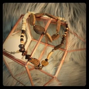 Jewelry - Wooden Necklace and Bracelet Set